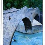 Il quadro olio su tela di Silvia Cavazza in una cartolina con foto di Francesco Paolo Vignocchi
