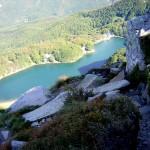 il Lago visto dal sentiero 527 che dal Giovo scende al passo della Boccaia