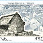 Il francobollo dedicato a Fiumalbo con la capanna di Ca' della Rosa